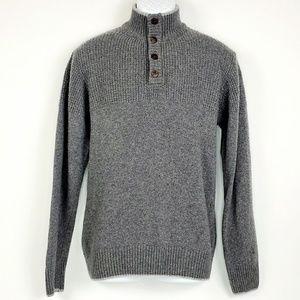 Daniele Blasi Wool Blend Waffle Knit Sweater Gray